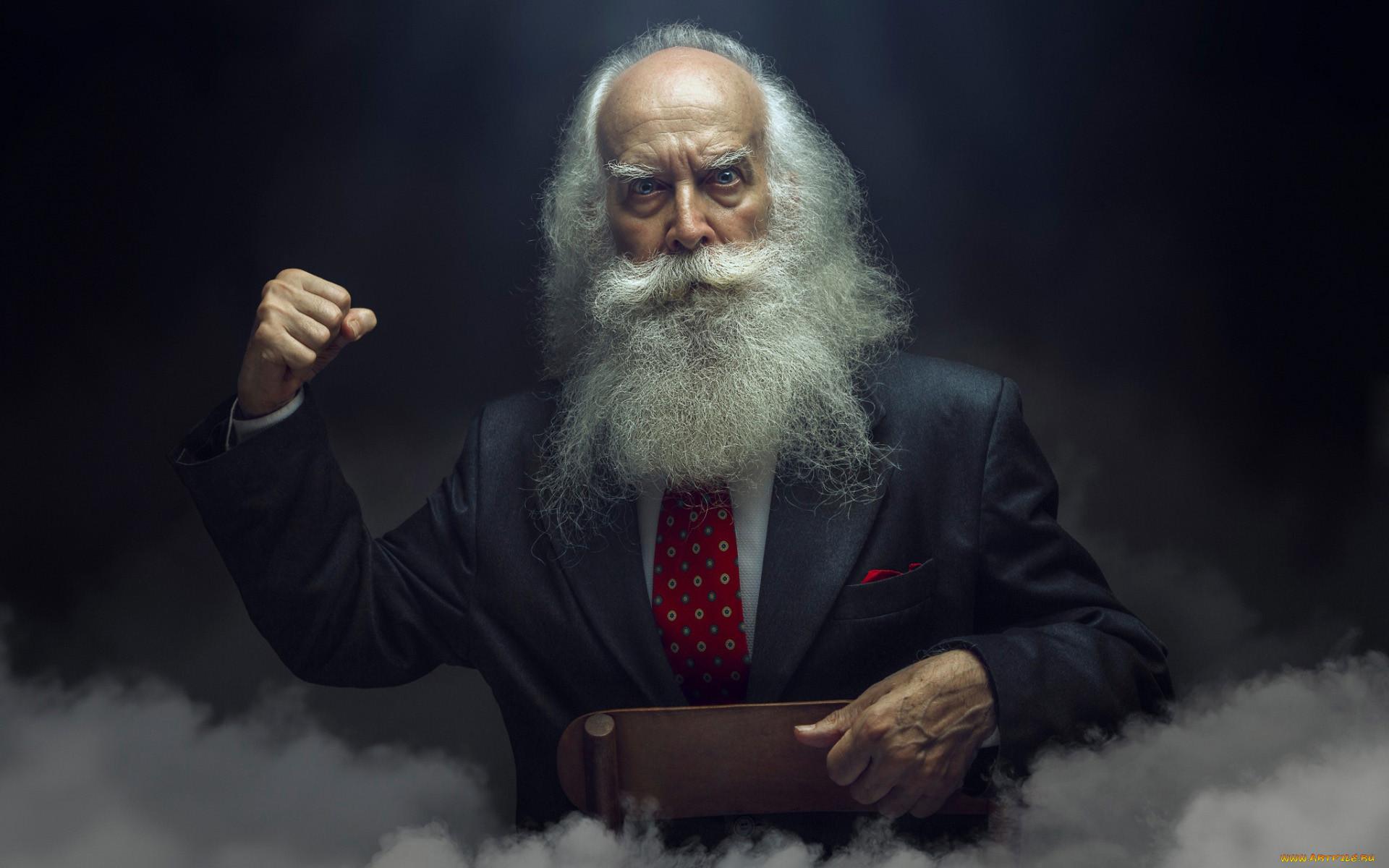 мужчины, - unsort, седина, борода, жест